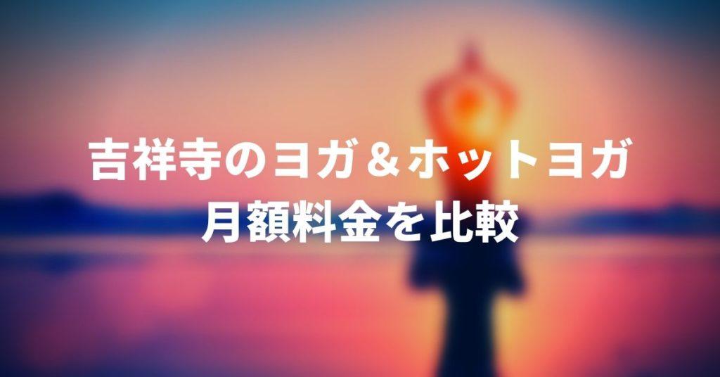 吉祥寺のヨガ月額料金比較