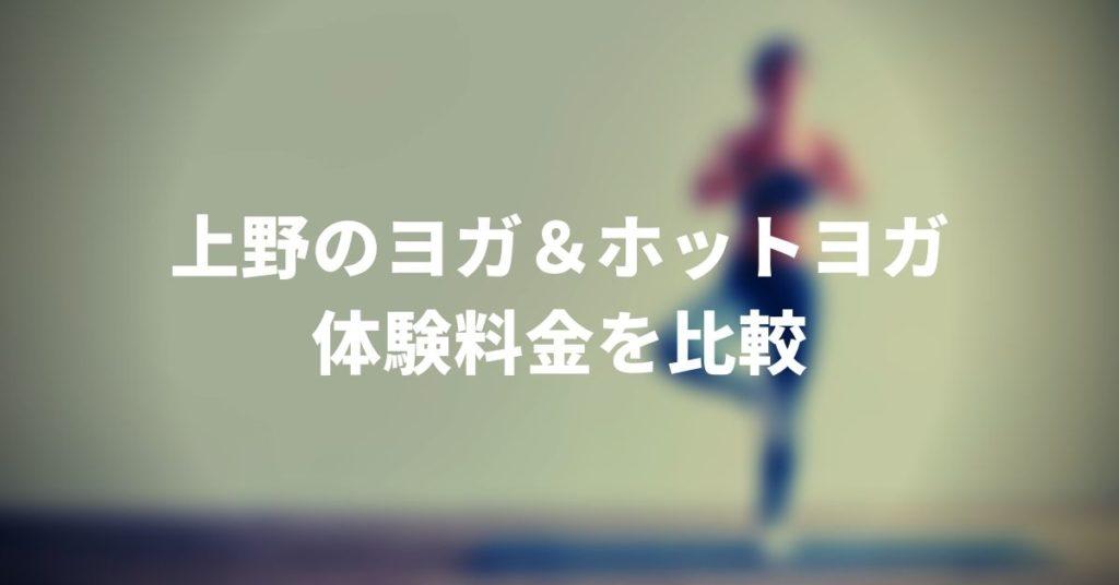 上野にあるヨガ・ホットヨガスタジオの体験料金を比較